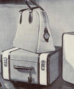 Модели сумок и чемоданов Gucci в 1930-е годы